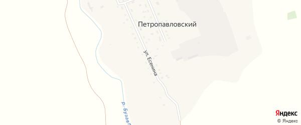 Улица Есенина на карте деревни Петропавловского с номерами домов