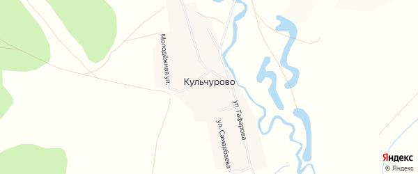 Карта села Кульчурово в Башкортостане с улицами и номерами домов