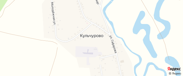 Улица Сакмар на карте села Кульчурово с номерами домов