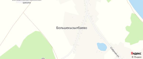 Озерная улица на карте деревни Большекызылбаево с номерами домов