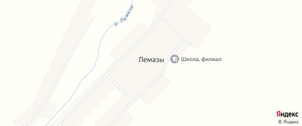 Центральная улица на карте села Лемаз с номерами домов