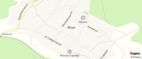 Лесная улица на карте деревни Яхъя с номерами домов