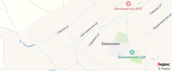 Горная улица на карте села Бекешево с номерами домов