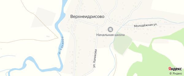 Улица Файзуллина на карте деревни Верхнеидрисово с номерами домов