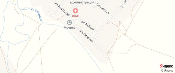 Улица Гагарина на карте села Верхнетавлыкаево с номерами домов