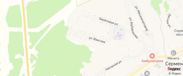 Улица Ваисова на карте села Серменево с номерами домов