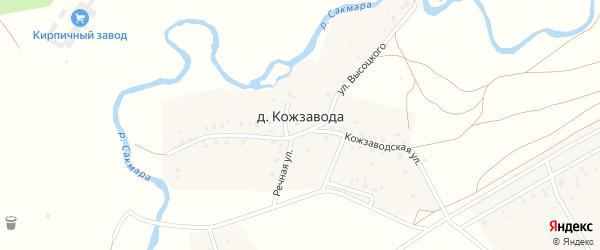Кирзаводская улица на карте деревни Кожзавода с номерами домов