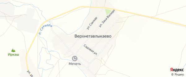 Карта села Верхнетавлыкаево в Башкортостане с улицами и номерами домов