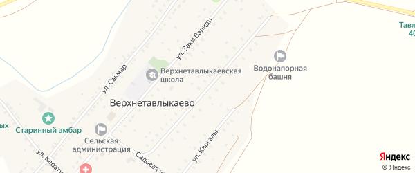 Улица С.Юлаева на карте села Верхнетавлыкаево с номерами домов