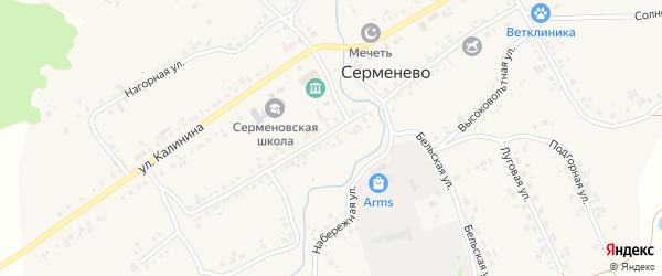 Улица Даутова на карте села Серменево с номерами домов