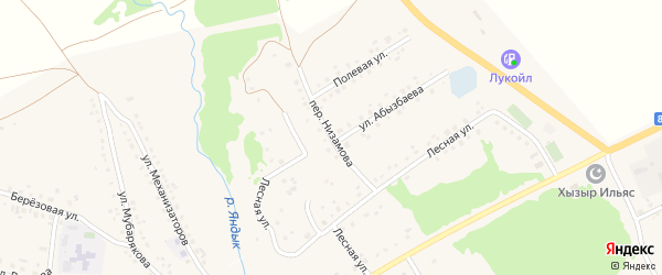 Переулок Низамова на карте села Серменево с номерами домов