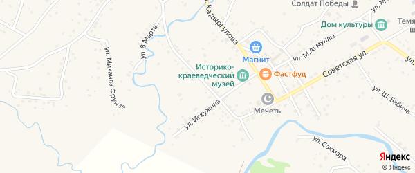 Улица Н.Валеевой на карте села Темясово с номерами домов