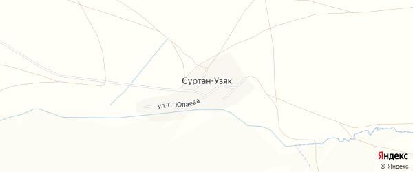 Карта деревни Суртана-Узяка в Башкортостане с улицами и номерами домов