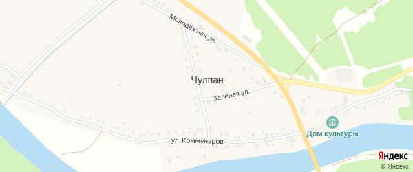 Солнечная улица на карте деревни Чулпана с номерами домов