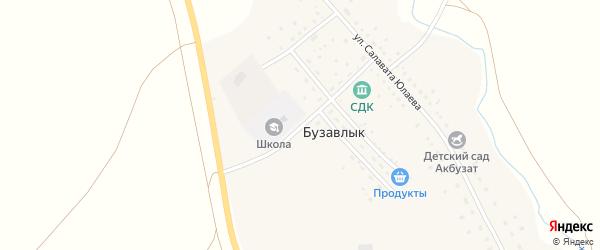 Юбилейная улица на карте деревни Бузавлыка с номерами домов