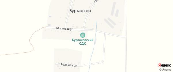 Заречная улица на карте деревни Буртаковки с номерами домов