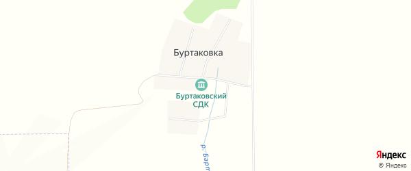 Карта деревни Буртаковки в Башкортостане с улицами и номерами домов