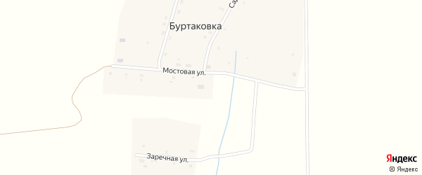 Молодежная улица на карте деревни Буртаковки с номерами домов