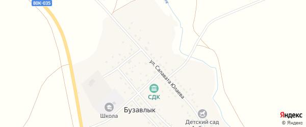 Улица Салавата Юлаева на карте деревни Бузавлыка с номерами домов