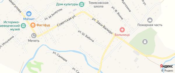 Улица Бабича на карте села Темясово с номерами домов