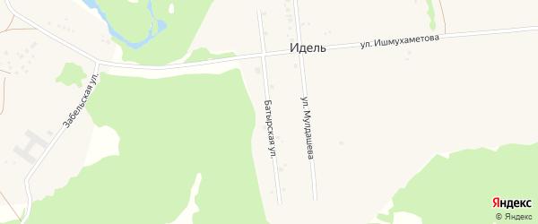 Батырская улица на карте села Серменево с номерами домов