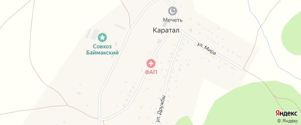 Улица С.Юлаева на карте деревни Каратала с номерами домов
