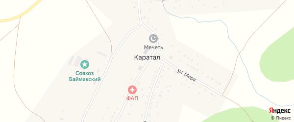 Улица Сакмар на карте деревни Каратала с номерами домов