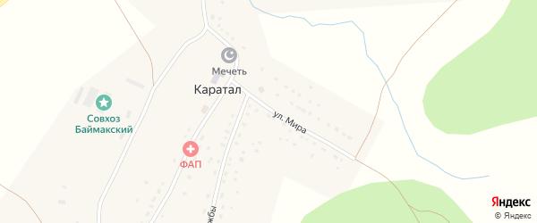 Улица Мира на карте деревни Каратала с номерами домов