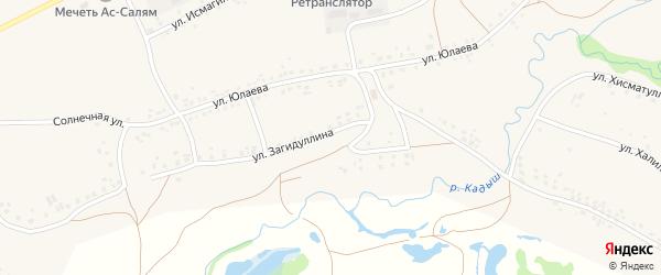 Улица Загидуллина на карте села Серменево с номерами домов