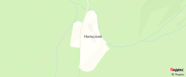 Карта Нильского поселка в Челябинской области с улицами и номерами домов