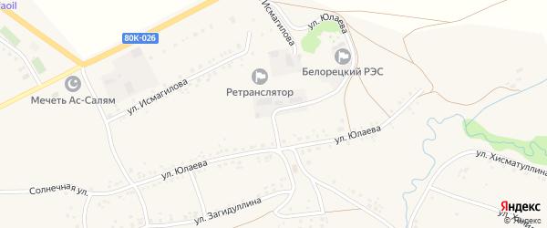 Улица С.Юлаева на карте села Серменево с номерами домов