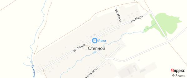 Улица Мира на карте деревни Степного с номерами домов