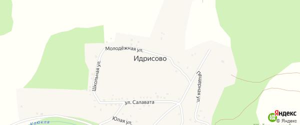 Молодежная улица на карте деревни Идрисово с номерами домов