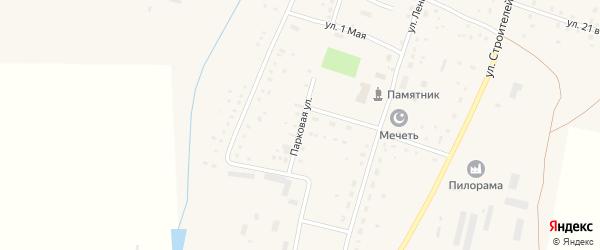 Парковая улица на карте села Акмуруна с номерами домов