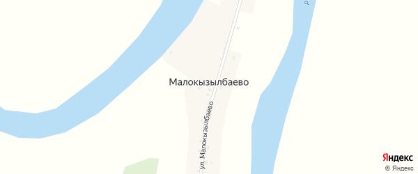 Улица Малокызылбаево на карте деревни Малокызылбаево с номерами домов