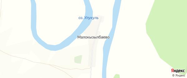 Карта деревни Малокызылбаево в Башкортостане с улицами и номерами домов