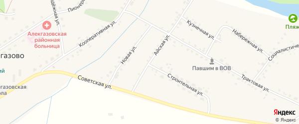 Айская улица на карте села Алегазово с номерами домов