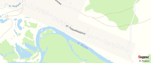 Улица Худайбердина на карте села Серменево с номерами домов