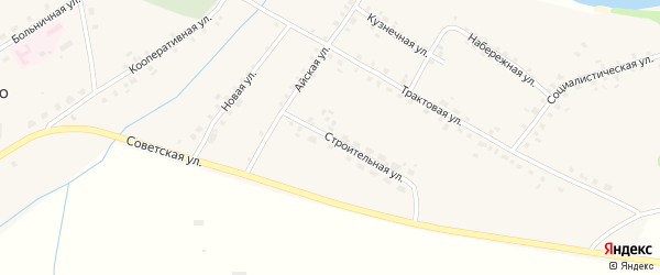 Строительная улица на карте села Алегазово с номерами домов