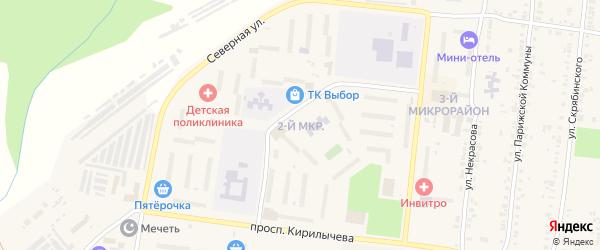 Улица ПК Животновод-7 МКР-2 на карте Усть-Катава с номерами домов