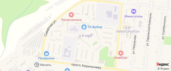 Улица ПК Автолюбитель-8 мкр-2 на карте Усть-Катава с номерами домов