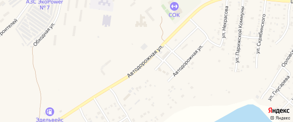 Автодорожная улица на карте Усть-Катава с номерами домов