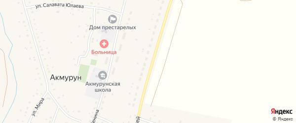 Улица Строителей на карте села Акмуруна с номерами домов