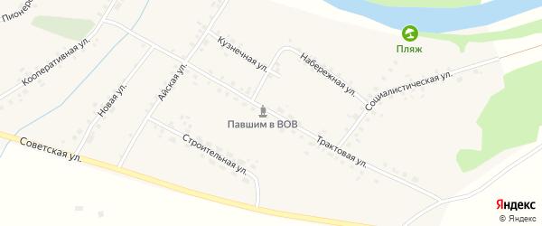 Трактовая улица на карте села Алегазово с номерами домов
