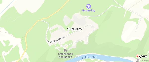 Карта села Янгантау в Башкортостане с улицами и номерами домов