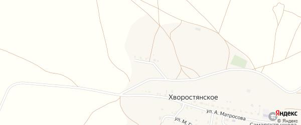 Улица 55 лет Победы на карте деревни Хворостянского с номерами домов
