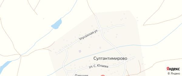 Улусазская улица на карте деревни Султантимирово с номерами домов