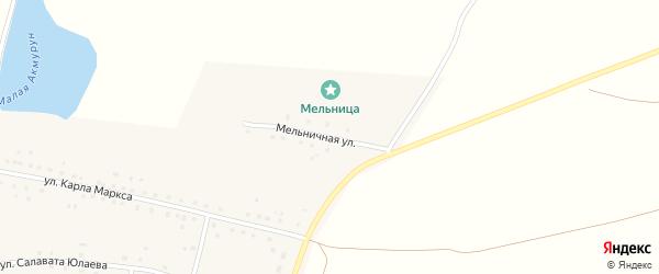 Мельничная улица на карте села Акмуруна с номерами домов