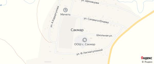 Улица А.Щеховцова на карте деревни Сакмара с номерами домов