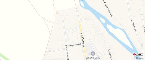Улица М.Губайдуллина на карте села Татыра-Узяка с номерами домов